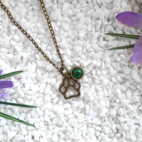 Green Paw Necklace