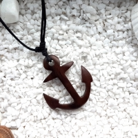 Wooden Anchor Necklace