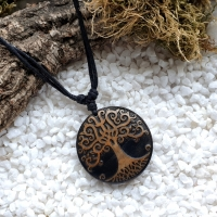 Wooden Yggdrasil Necklace
