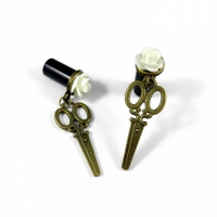 Small Bronze Scissors Plugs